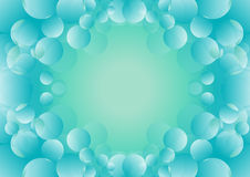 Bubble with blue background. Decorated bubble with blue background Stock Photos