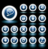 Bubble blue buttons Stock Image