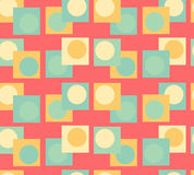 Bubble in boxes seamless pattern Stock Images