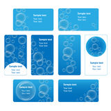 Bubble business cards set Stock Photo