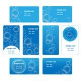 Bubble business cards set Stock Photo