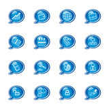 Bubble business icons Royalty Free Stock Images