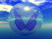 Bubble Butterfly Royalty Free Stock Photos