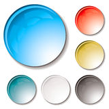 Bubble buttons gel Royalty Free Stock Images
