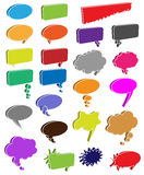 Bubble Cartoon Cloud Thought Burst Modern Colored Colors Sspeech Set Vector Comics Comic Empty Book Blank Art Elements Bubbles Royalty Free Stock Photo