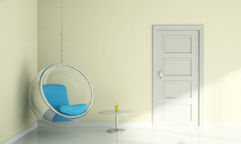 Bubble chair and table in living room interior modern Royalty Free Stock Photography