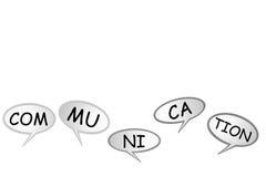 Bubble Chat - Communication, isolated on white Stock Photo