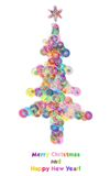 Bubble christmas tree Stock Photos