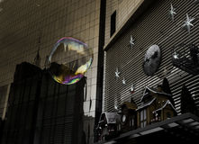 Bubble in the City Royalty Free Stock Image