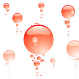 Bubble clear red Stock Image