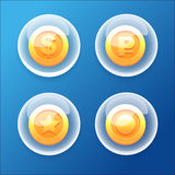 Bubble Coins Stock Photography