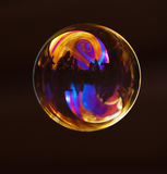 A bubble with color reflections Royalty Free Stock Photography
