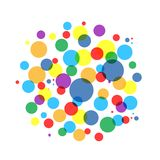 Bubble colorful frame for your design Stock Image
