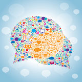 Bubble of communication in social media Stock Image