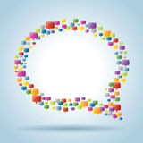 Bubble of communication Royalty Free Stock Images