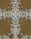Bubble cross. Kaleidoscope cross from photo of bubbles on Oregon beach Stock Photos