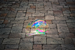 Bubble in darkness Royalty Free Stock Photos
