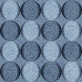 Bubble decorative pattern - seamless pattern - blue jeans textil Stock Photography
