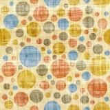 Bubble decorative pattern - seamless pattern - papyrus texture Royalty Free Stock Photo