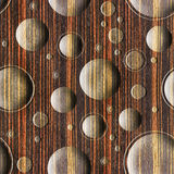 Bubble decorative wooden pattern for seamless background - Ebony Royalty Free Stock Photography