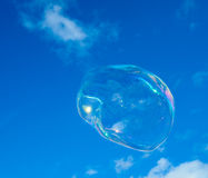 Bubble. Detailed Bubble on clear sky Royalty Free Stock Photography