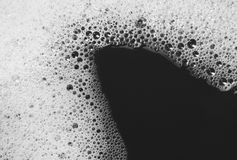 Bubble from detergent drifts on water skin Stock Photography