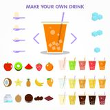 Bubble drink juice creator for apps design vector illustration