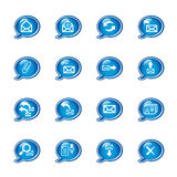 Bubble e-mail icons. Vector icons, speech bubble series