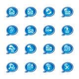 Bubble e-mail icons Stock Photo