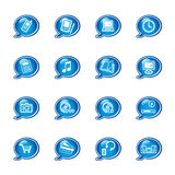 Bubble electronics icons Stock Images