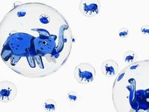 Bubble elephant. In white space Stock Images