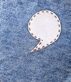 Bubble fabric on Jean Royalty Free Stock Image