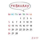 Bubble february 2017 Stock Image