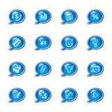 Bubble finance icons royalty free illustration