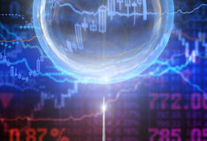 Bubble. In the finance world Royalty Free Stock Photo