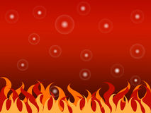 Bubble fire hot background Royalty Free Stock Image