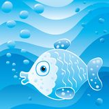 Bubble fish. Cute little fish in the sea Royalty Free Stock Photo