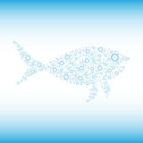 Bubble fish for your design. Bubble fish on blue background,  illustration Royalty Free Stock Images