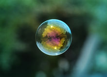Bubble floating in the sky. Outside during the daytime Stock Photo