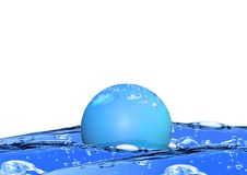 Bubble floating on water Stock Photo