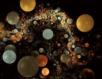 Bubble fractals Stock Images