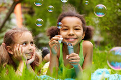 Bubble fun royalty free stock photo