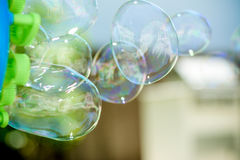 Bubble Fun. In the summer royalty free stock image