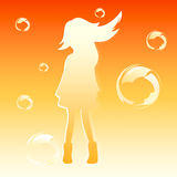 Bubble girl Stock Photos