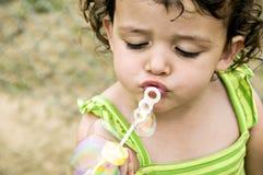 Bubble Girl Stock Photo