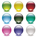 Bubble glow circle Royalty Free Stock Images