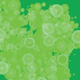 Bubble green patchy. A patchy green bubble effect for use of a desktop or background Stock Photos