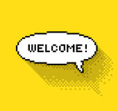 Bubble greeting with Welcome! Royalty Free Stock Photos