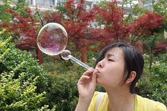 Bubble and gril Stock Image