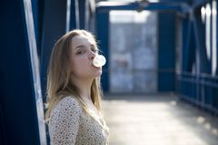 Bubble Gum. Concept. Street scene royalty free stock photos